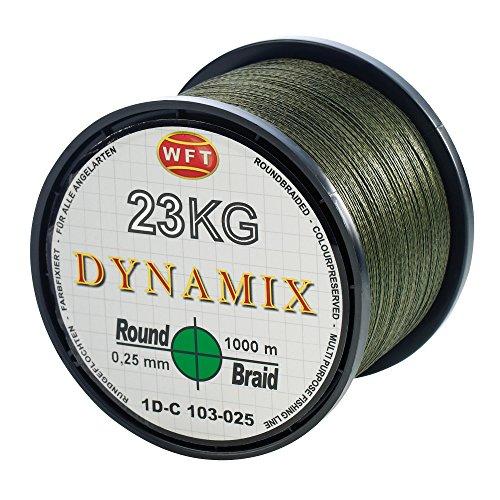 WFT Round Dynamix 1000m geflochtene Angelschnur, Durchmesser:0.20mm;Farbe:Grün (Grün Angelschnur Geflochtene)