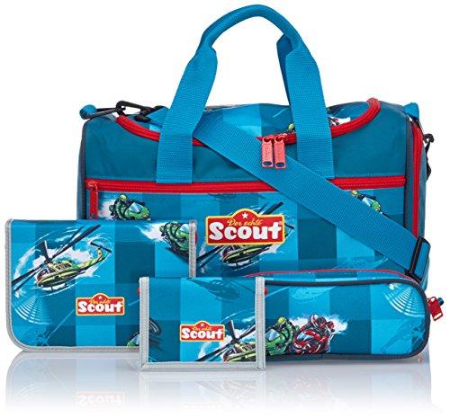 Scout Schulranzen-Set Basic Nano Set 1 5 tlg Helikopter 36 cm Blau 71500753400 - 3