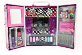 Glitter & Shine Girls Vanity Makeup Carry Case Accessories With Mirror Travel Carry Storage Gift Set