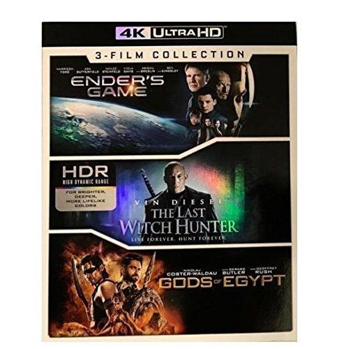 Lions Gate Ender's Game/The Last Hexenjäger/Gods of Egypt 4K Ultra HD 3 Filme