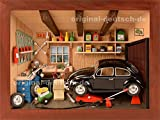 3D Holzbild KFZ-Werkstatt, lasiert