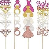 80 Pezzi Glitter Nuziale Topper per Torte Matrimonio con Anelli di Diamanti Decorazioni per Abiti da Sposa per Coinvolgimento di Nozze
