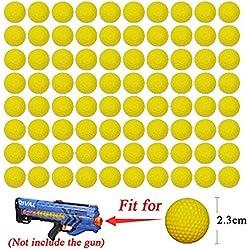 Cosoro Lot de 72balles en mousse pour pistolets Nerf Rival Zeus, Apollo, Khaos, Atlas et Artemis