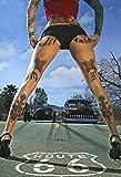 Street Race Pin Up Girl Blechschild Schild Blech Metall Metal Tin Sign 20 x 30 cm