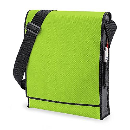 bagbase-budget-borsa-messenger-verticale-10-litri-taglia-unica-verde-lime-nero