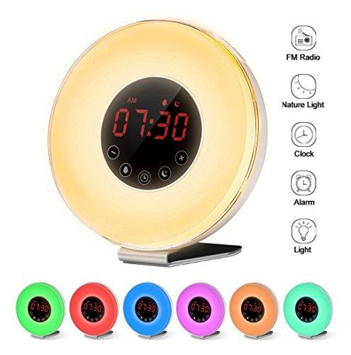 Despertador Digital Alarma Reloj Amanecer Atardecer