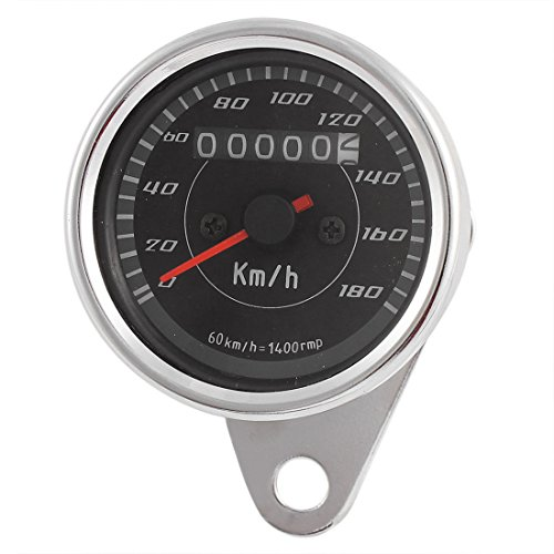sourcingmap® Universal 0-180 km/h Motorrad Drehzahlmesser Tachometer Tacho Anzeige DC 12V