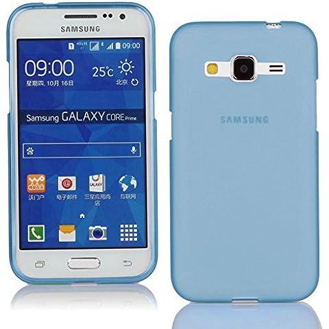 TBOC® Funda de Gel TPU Azul Claro para Samsung Galaxy Core Prime G360 de Silicona Ultrafina y Flexible