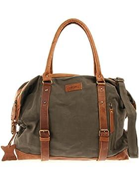 LECONI XL Shopper für Damen & Herren Unisex Handgepäck Vintage-Style kleiner Weekender Sporttasche Used-Look Fitnesstasche...