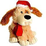Belldessa XL - Hund -  Christmas  - Plüschtier - 32 cm - aus Stoff / Plüsch - Weihnachtsmann / Weihnachtshund / Welpe - Tier - Weihnachten - Weihnachtsdeko - lustig - Lustiger / Deko / Stofftier