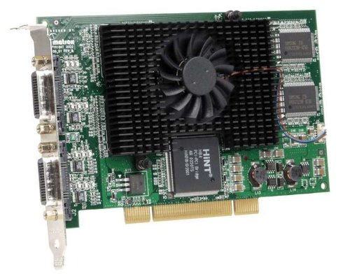 Matrox G450 MMS Grafikkarte (PCI, 128MB DDR2 Speicher, Quad DVI & VGA, 1 GPU) Mms Quad
