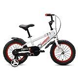 Kinderfahrräder Jungen und Mädchen Kleinkinder Fahrrad 2-3-4-5-6 Jahre Alt Kinder Pedale Fahrrad 12 14 16 18 Zoll Kinderwagen Speichenrad Ein Rad Weiß (Farbe : Spoke Wheel, Größe : 14 inch)