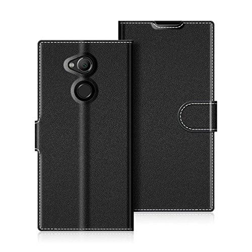 COODIO Handyhülle für Sony Xperia XA2 Ultra Handy Hülle, Sony Xperia XA2 Ultra Hülle Leder Handytasche für Sony Xperia XA2 Ultra Klapphülle Tasche, Schwarz