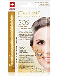 Eveline Face Therapy 5-in-1 Rejuvenating Mask with Diamond and 24K Gold (pack of 5)