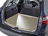 (Fahrzeug auswählen) Kofferraummatte Kofferraumwanne Kofferraumschale beige geruchlos formstabil inklusive Multimatte Ladekantenschutz