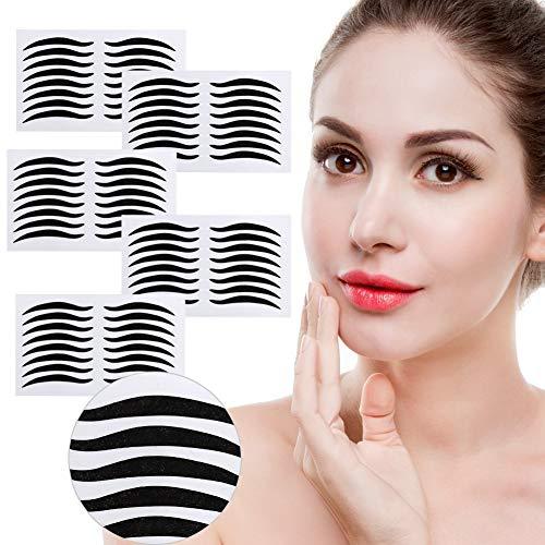 Adesivi Magic False Eyeliner, 200 paia Adesivo per eyeliner nero Invisibile Nastro doppia palpebra In fibra di fibra Strumenti per il trucco di bellezza