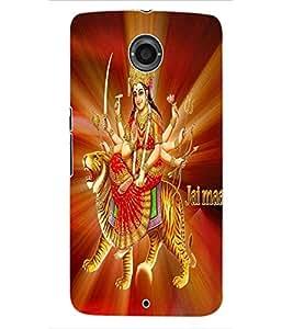 ColourCraft Maa Bhavani Design Back Case Cover for MOTOROLA GOOGLE NEXUS 6