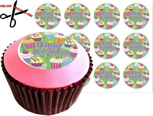 12 (HAPPY BIRTHDAY Cupcake) 38 mm (1.5