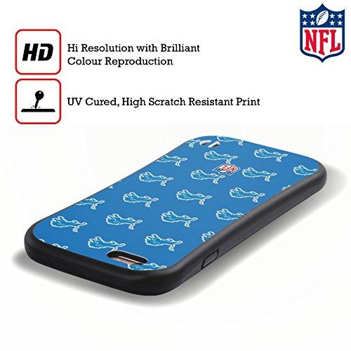 Ufficiale NFL Righe 2017/18 Detroit Lions Case Ibrida per Apple iPhone 6 / 6s Pattern