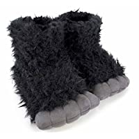 SlumberzzZ Boys Gorilla Faux Fur Boot Slippers