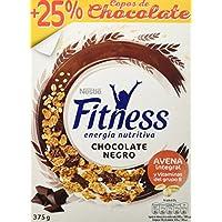 Cereales Nestlé Fitness Copos de trigo integral, arroz y avena integral tostados con chocolate negro