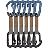 Fusion Fusion Climb Contigua Straight And Wire Gate Caribiners Ultra-Light Quickdraw 6 Pack WG/ST -11CM