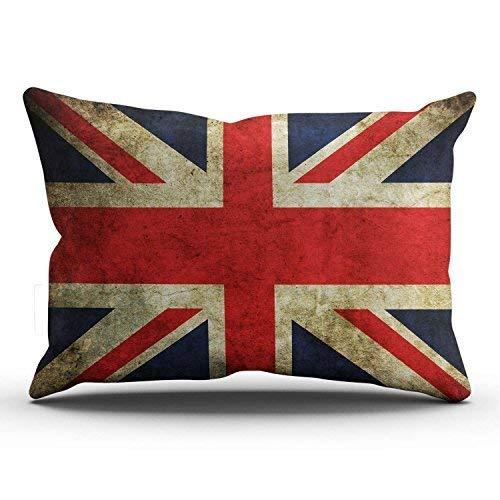 5b1d05452 KCOUU Romantic Classic Retro UK United Kingdom Union Jack Flag Britain  British Lumbar Pillowcase Rectangle Zippered Printed 40x60cm Throw Pillow  Case ...