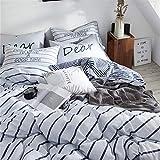 Doppelseitig Drucken Bettbezug 4-teiliges Set Bettwäsche Gesetzt 100% Baumwolle Doppelseitig Schrubben Aktiv Bedrucken Und Färben Einfach Mode Bett Kit