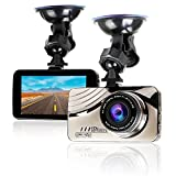 WiMiUS Dashcam Full HD 1080P Auto Kamera mit 170° Weitwinkelobjektiv, 3 Zoll LCD-Bildschirm Autokamera mit G-Sensor, WDR, Parkmonitor, Nachtsicht und Loop-Aufnahme