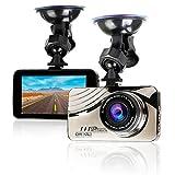 WiMiUS Cámara de Coche Dash Cam Full HD 1080P Gran Angulo 170° Pantalla 3