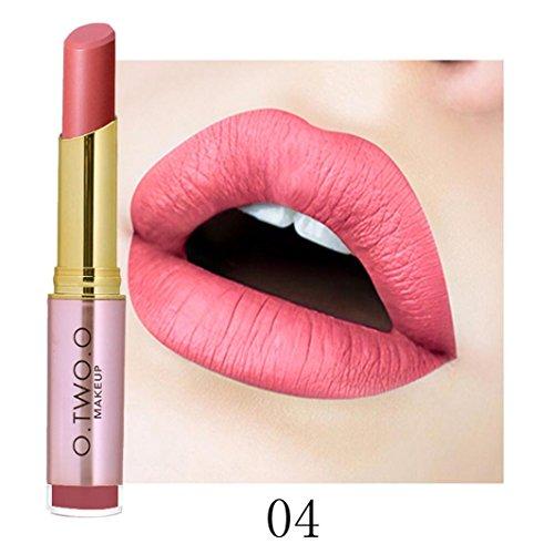 ESAILQ Damen Beauty Makeup Wasserdicht Sexy Lippenstift Hydrating Long Lasting Lippenstift (D)