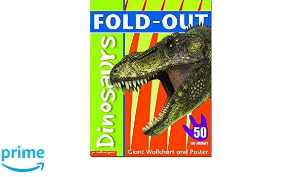 Fold Out Sticker Book Dinosaurs Fold Out Poster Sticker Books
