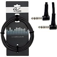 Alpha Audio 190370 Basic Line Patchkabel (0,3 m Winkelklinke Stereo auf Winkelklinke Stereo)