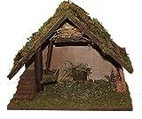 Weihnachts-Krippe Holz Krippen-Stall klein MELCHOR ohne Figuren 41 x 21 x 30 cm Handarbeit aus Bayern