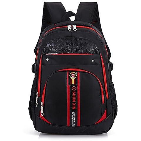 GQQ 2016 nuovo duplex Accademia vento coreano moda taglia grande in nylon doppia spalla borsa da viaggio , red
