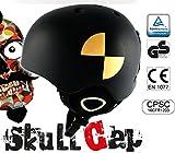Skihelm / Snowboardhelm schwarz für Männer und Frauen - Crash Test - Sicher - leicht - sitzt felsenfest