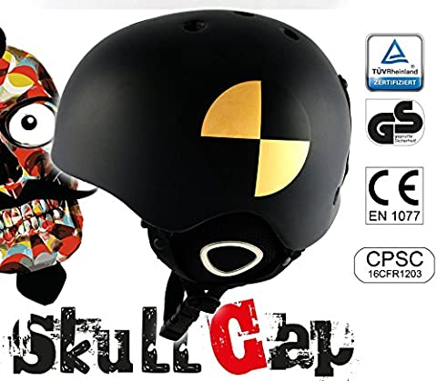 My Leg. My... & # X25BA Skullcap Ski and Snowboard Helmet & # X2623, Safely & X2623 – Easy & # X2623 (sits Rock Fest Black Crash-Test Size:M (53 - 56