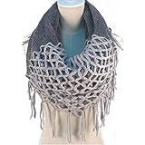 Hiver chaud Crochet Knit Long Pompon doux Wrap Châle Écharpe écharpes deux styles Infinity et droite