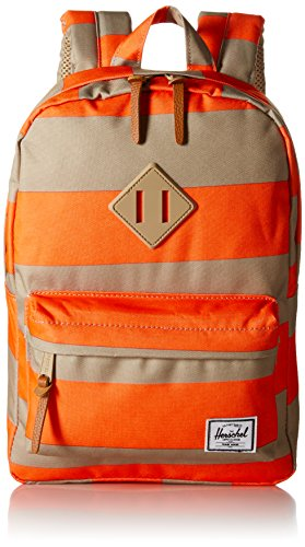 5ab4ac442f1b Herschel Supply Co Heritage Kids Neon Orange Stripe Khaki Tan Pebbled  Leather One Size 10073 00739 Os