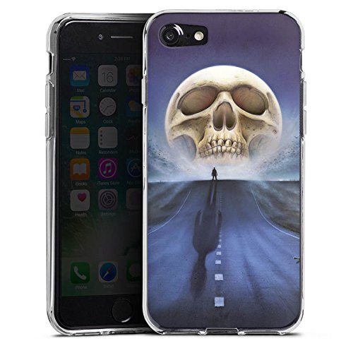 Apple iPhone X Silikon Hülle Case Schutzhülle Straße Totenkopf Skull Silikon Case transparent