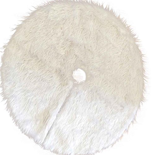 LUFA Faux Fur Christmas Tree Falda de Navidad Decoración de vacaciones Ornamento Home Party Tree Falda Carpet Alfombra delantal