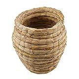 F Fityle Big Natural Straw Nest Aves Ardilla Ratas Hamster Jaula Estera Almohadilla Cama para Dormir