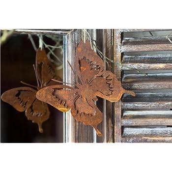 Edelrost metall hase sitzend osterdekoration f r haus und for Gartendeko blechfiguren