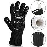 BAIU Hochwertige Extra Lange Topfhandschuhe Ofenhandschuhe Grillhandschuhe Backhandschuhe bis zu 500 °C (932℉) - Maximale Sicherheit vor Verbrennungen (1 Paar)