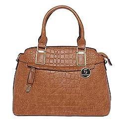 Fur Jaden Tan Croc Handheld Bag