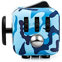 Fancyku Fidget Attention Cube Relieves Stress And Anxiety For Children And Adults, Camo Blue 2