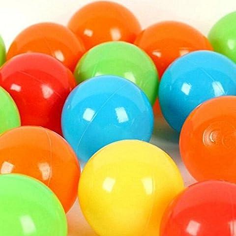 Da.Wa 100 pcs Multicolor Marinos Bola Plástico de Baño para Niños del Diametro de 5.5 cm