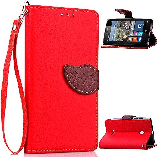 Microsoft Nokia Lumia 532 N532 Lederoptik PU Leder -
