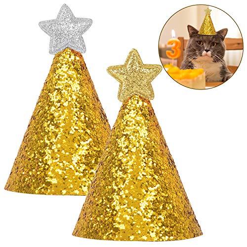 Legendog Haustier Geburtstag Hut Niedlichen Stern Dekor Pailletten Hund Geburtstag Hut Katze Kegel - Kegel Dog Kostüm
