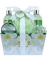 Gloss Floral Scented Badeset Geschenkset Jasmine 6 teiliges, 1er Pack (1 x 1.1 kg)